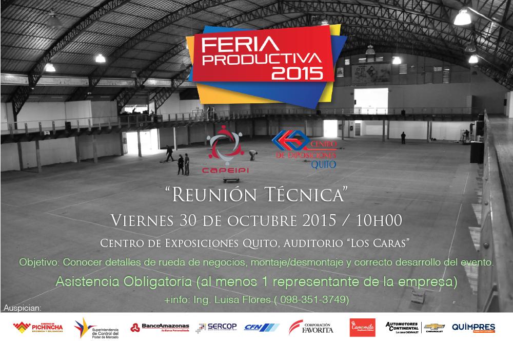 Reunión Técnica Feria Productiva 2015