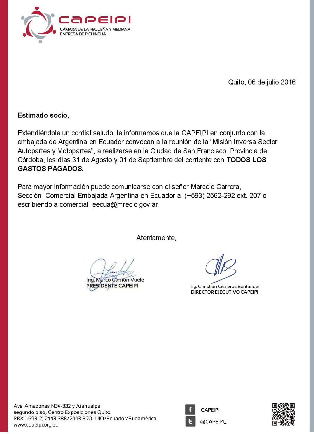 Misión Comercial a Argentina
