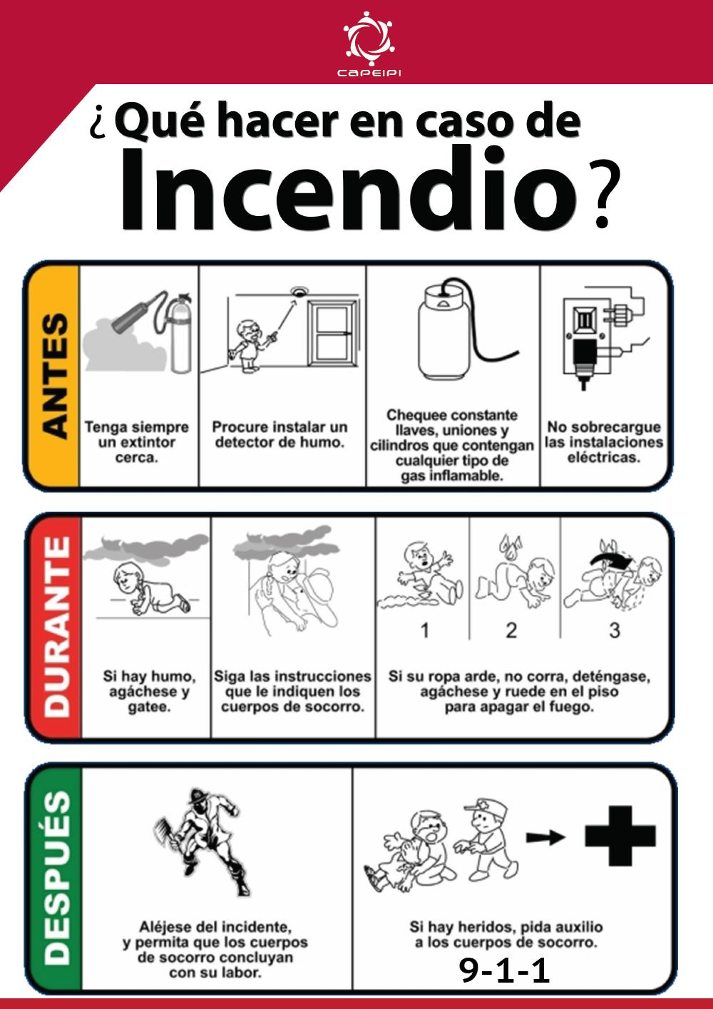 ¿Qué hacer en caso de Incendio?